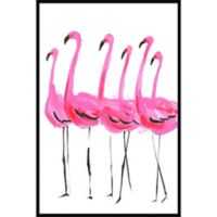 Marmont Hill Collective Flamants Roses 40-Inch x 60-Inch Framed Wall Art