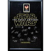 Star Wars™ Signed The Force Awakens Cast Movie Poster II Framed Wall Art