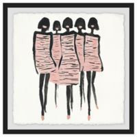 Marmont Hill Supermodels 12-Inch Square Framed Wall Art