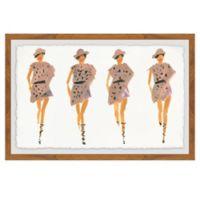 Marmont Hill Strutting Prints 12-Inch x 18-Inch Framed Wall Art