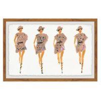 Marmont Hill Strutting Prints 16-Inch x 24-Inch Framed Wall Art