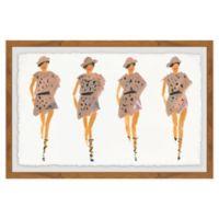 Marmont Hill Strutting Prints 20-Inch x 30-Inch Framed Wall Art
