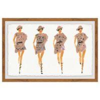 Marmont Hill Strutting Prints 24-Inch x 36-Inch Framed Wall Art