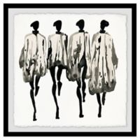 Marmont Hill Collective Graue Farbtone 12-Inch Square Framed Wall Art