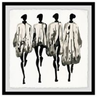 Marmont Hill Collective Graue Farbtone 18-Inch Square Framed Wall Art
