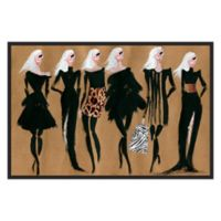 Marmont Hill Collective Glam Night Canvas 18-Inch x 12-Inch Framed Wall Art