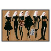Marmont Hill Collective Glam Night Canvas 24-Inch x 16-Inch Framed Wall Art