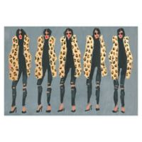 Marmont Hill Collective Cheetah and Jeans 18-Inch x 12-Inch Canvas Wall Art