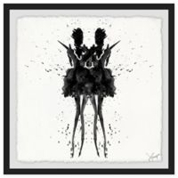 Marmont Hill Collective Black Swan 18-Inch Square Framed Wall Art