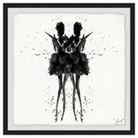 Marmont Hill Collective Black Swan 24-Inch Square Framed Wall Art
