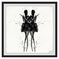 Marmont Hill Collective Black Swan 32-Inch Square Framed Wall Art
