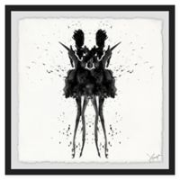 Marmont Hill Collective Black Swan 40-Inch Square Framed Wall Art
