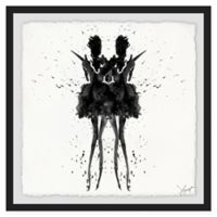 Marmont Hill Collective Black Swan 48-Inch Square Framed Wall Art