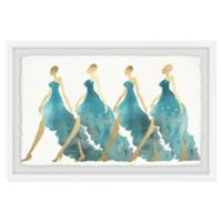 Marmont Hill Collective Blue Obsession 12-Inch x 18-Inch Framed Wall Art
