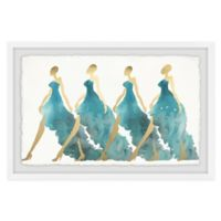 Marmont Hill Collective Blue Obsession 16-Inch x 24-Inch Framed Wall Art