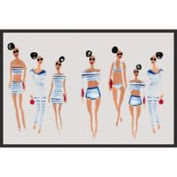 Marmont Hill Collective 16-Inch x 24-Inch Nautical Summer II Canvas with Floater Frame
