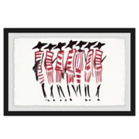 Marmont Hill Collective 40-Inch x 60-Inch Red Deco Framed Wall Art