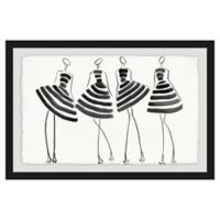 Marmont Hill Collective 16-Inch x 24-Inch Striped In Framed Wall Art