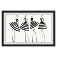 Marmont Hill Collective 24-Inch x 36-Inch Striped In Framed Wall Art