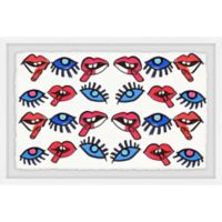 Marmont Hill Collective 12-Inch x 18-Inch Ojos y Boca Framed Wall Art