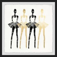 Marmont Hill 12-Inch Square Black and Gold Silhouettes Framed Wall Art