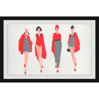Marmont Hill Collective 24-Inch x 36-Inch Obsession Rouge Framed Wall Art