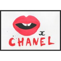 Marmont Hill Collective 24-Inch x 36-Inch Sultry Lips Canvas with Floater Frame