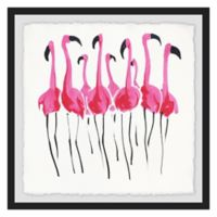 Marmont Hill 12-Inch Square Flamboyance Framed Wall Art