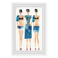 Marmont Hill Sexy Blues 12-Inch x 18-Inch Framed Wall Art