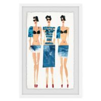 Marmont Hill Sexy Blues 24-Inch x 36-Inch Framed Wall Art