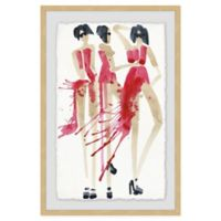 Marmont Hill Vogue Rouge 12-Inch x 18-Inch Framed Wall Art