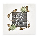 """Love is Patient"" 8-Inch Square Wall Art"