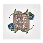 Fetco Home Décor™ Friends Become Family 8-Inch x 8-Inch Wall Art