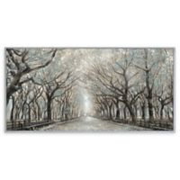 Portfolio Arts Group Momentary Quiet Platinum Panel 29-Inch x 58-Inch Canvas Wall Art