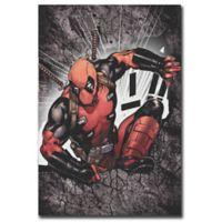 Marvel® Comics Deadpool Wall Break 13-Inch x 19-Inch Canvas Wall Art