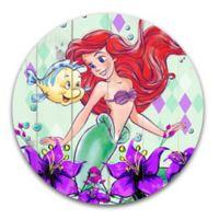 Disney® Ariel Flowers and Diamonds 14-Inch Round Wall Art