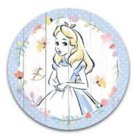 "Disney® ""Alice in Wonderland"" 14-Inch Circular Wood Wall Art"