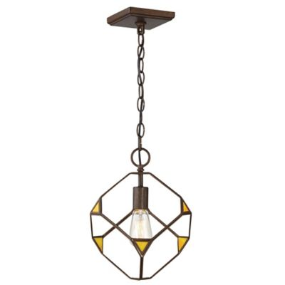 Rogue Decor Cubert 1 Light Ceiling Mount Pendant In Rustic Bronze