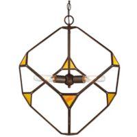 Rogue Décor Cubert 3-Light Pendant Light in Rustic Bronze
