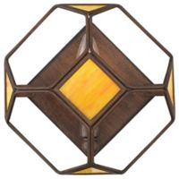 Rogue Decor Company Cubert Cube 1-Light Wall Sconce in Rustic Bronze