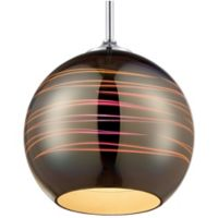 Rogue Decor Company Spacey 9.5-Inch 1-Light Mini Pendant in Polished Chrome