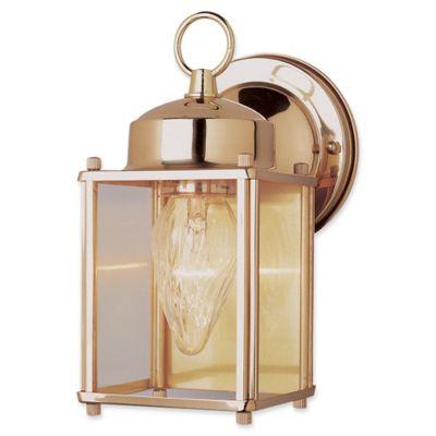 Bel Air Lighting Traditional Century 1 Light Wall Lantern Is Polished Brass