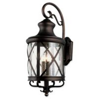 Bel Air Lighting Chandler 1-Light Wall Lantern in Rubbed Oil Bronze