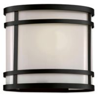 Bel Air Lighting Zephyr 1-Light 8.25-Inch Outdoor Lantern in Black with Frosted Glass Shade