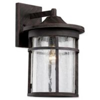 Bel Air Lighting Transitional 1-Light 17.75-Inch Wall Lantern in Rust