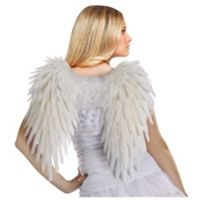 Funworld® Adult Feather Angel Wings Halloween Costume in White