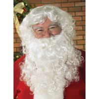 One Size Santa Beard and Wig Set in White