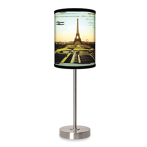 eiffel tower table lamp with brushed nickel base this table lamp adds. Black Bedroom Furniture Sets. Home Design Ideas