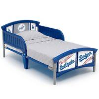 Delta Children MLB Los Angeles Dodgers Plastic Toddler Bed in Blue
