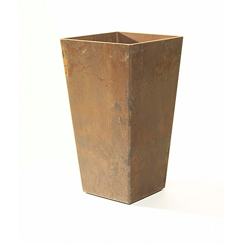 Ella 10 1/2-Inch H Square Planter in Teak